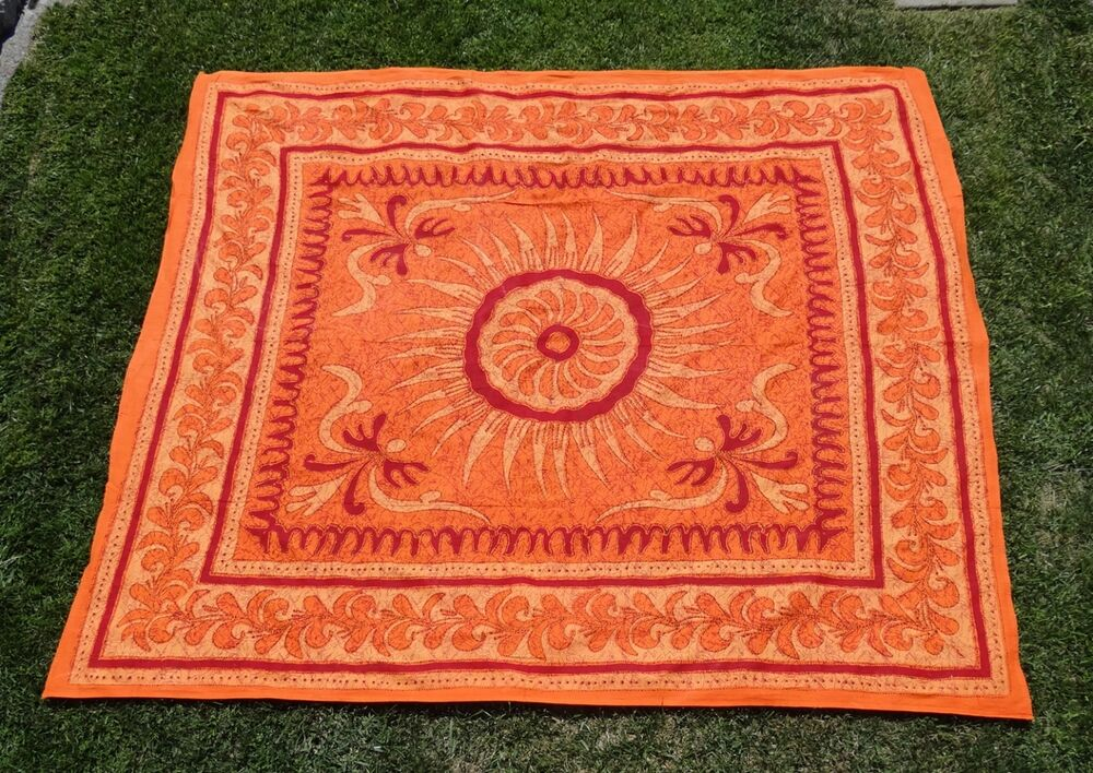 Indian sunflower tapestry bed sheet bed cover wallhanging cotton