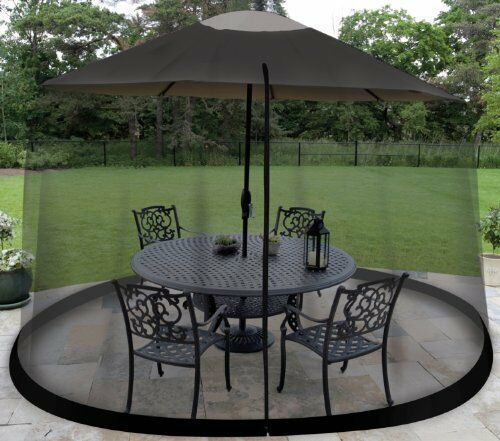 Outdoor Umbrella Table Screen Outdoors Patio Mosquitoes