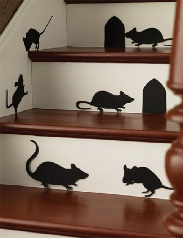 Mice and Holes. 6 mice, 2 Holes Halloween Wall or Window ...