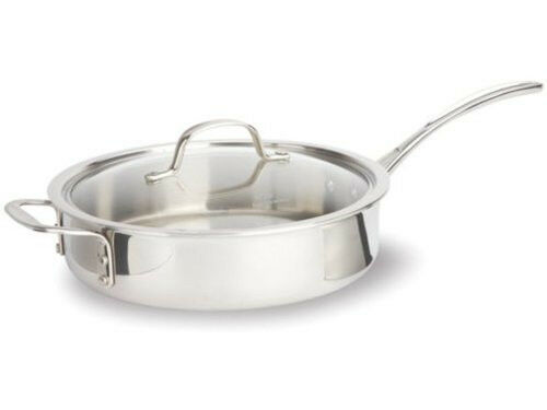 Calphalon 3 Qt Tri Ply Stainless Steel Saute Pan New Ebay