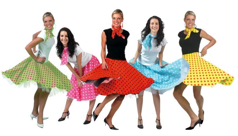 1950s Fifties Rock And Roll Skirt Skirts 50s Fifties Fancy Dress Fits 10 16 Ebay