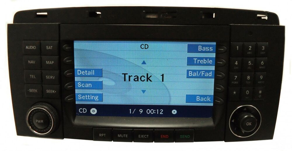 2006 2008 mercedes benz r class navigation gps radio. Black Bedroom Furniture Sets. Home Design Ideas