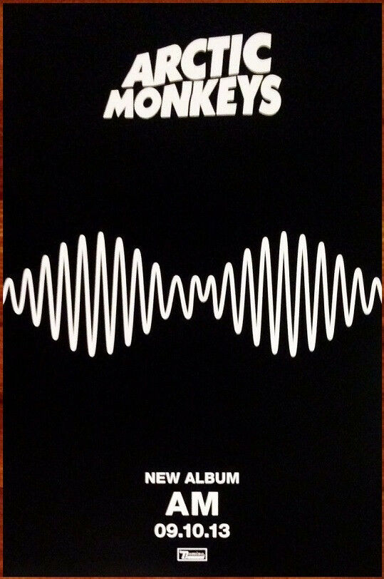 Arctic Monkeys Am Ltd Ed Discontinued New Rare Poster