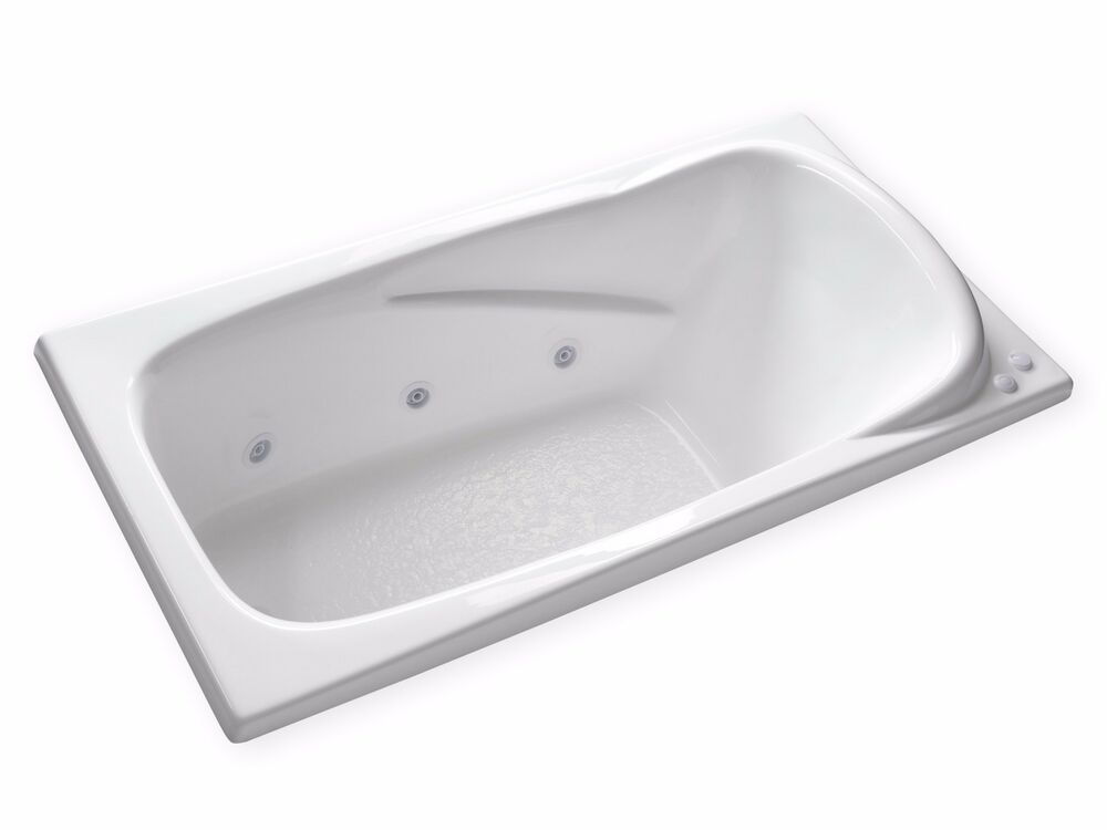 Carver Tubs AT7135 71 X 35 Large Jetted Whirlpool Bathtub W Built
