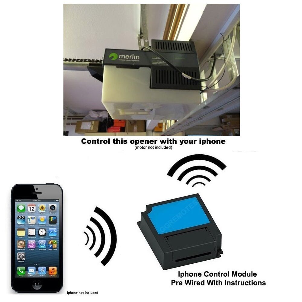 Iphone Remote Control Your Merlin Prolift 230t Garage Door