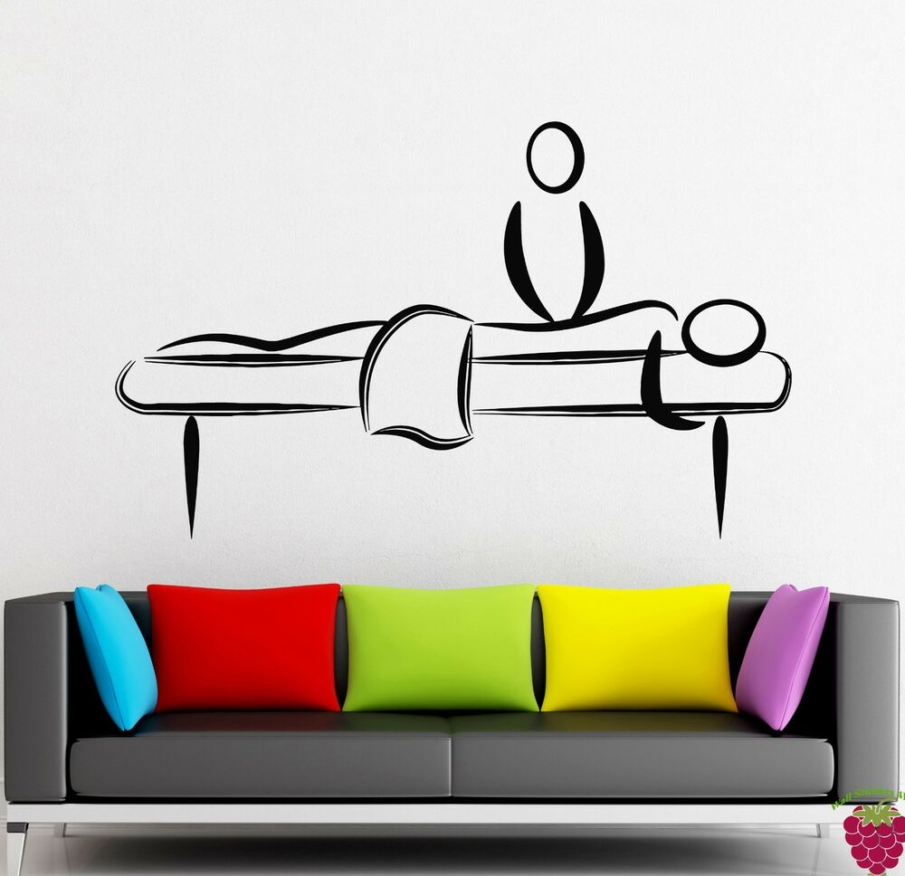Wall stickers vinyl decal massage relaxation relax spa for Stickers salon
