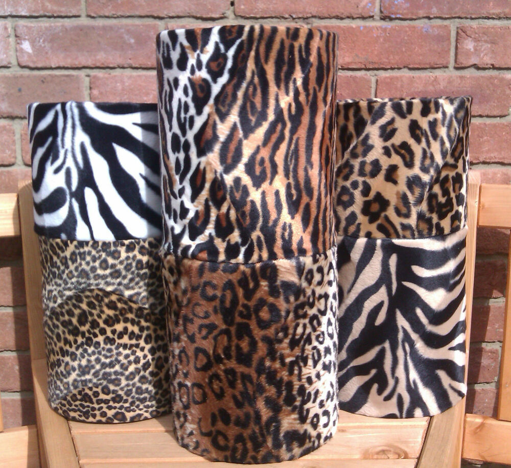 10 handmade universal leopard zebra animal print drum lampshades custom size ebay. Black Bedroom Furniture Sets. Home Design Ideas