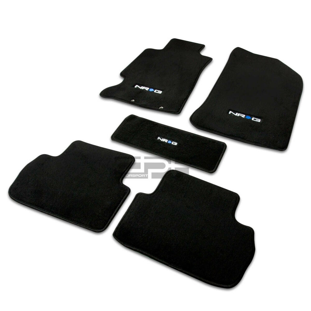 Fit 02-06 Acura Rsx K20 Fiber Nylon Black Floor Mats