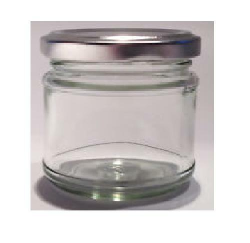 50 X 30ml Small 1oz 28g Mini Glass Jars Silver Lids Jam