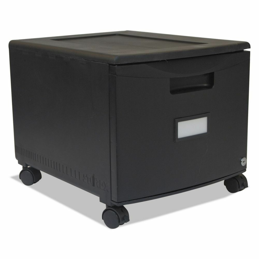 portable file cabinet storex single drawer mobile filing cabinet stx61259b01c 24850
