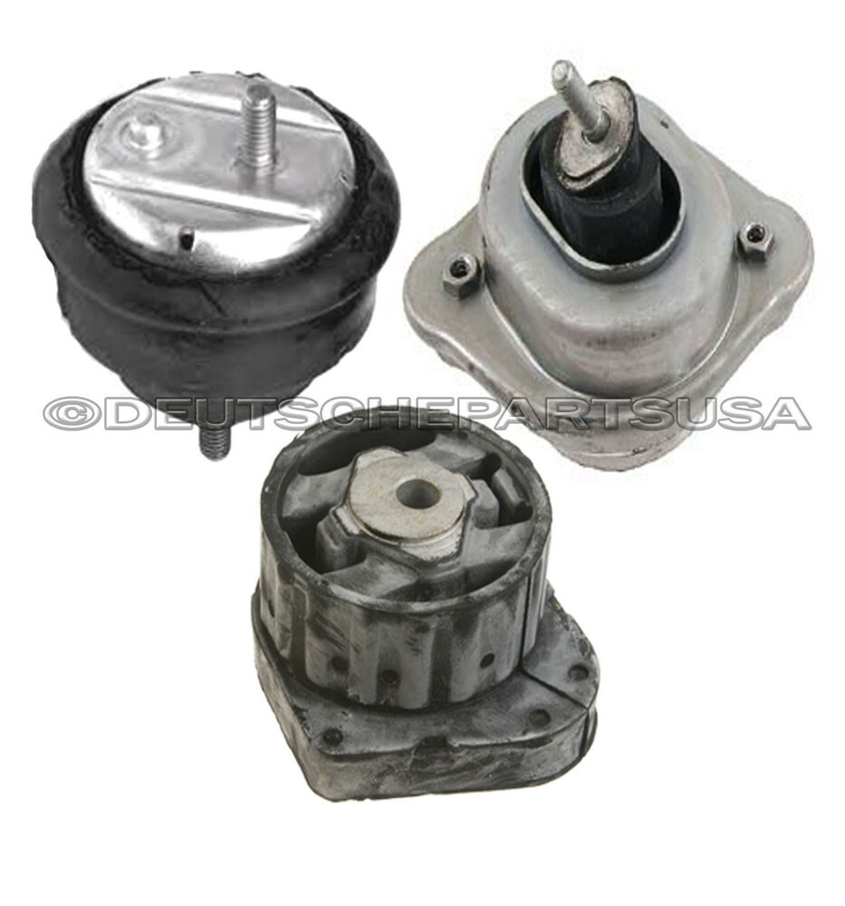 Hydraulic Engine Motor Transmission Mount Mounts For Bmw E46 325xi 330xi Set 3 Ebay