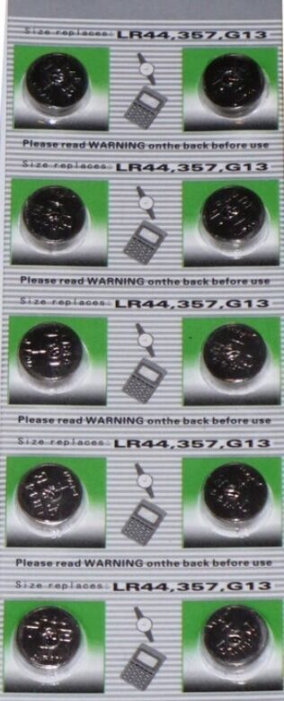 10x ag13 replacement batteries for nano hexbug inchworm for Hex bugs fish