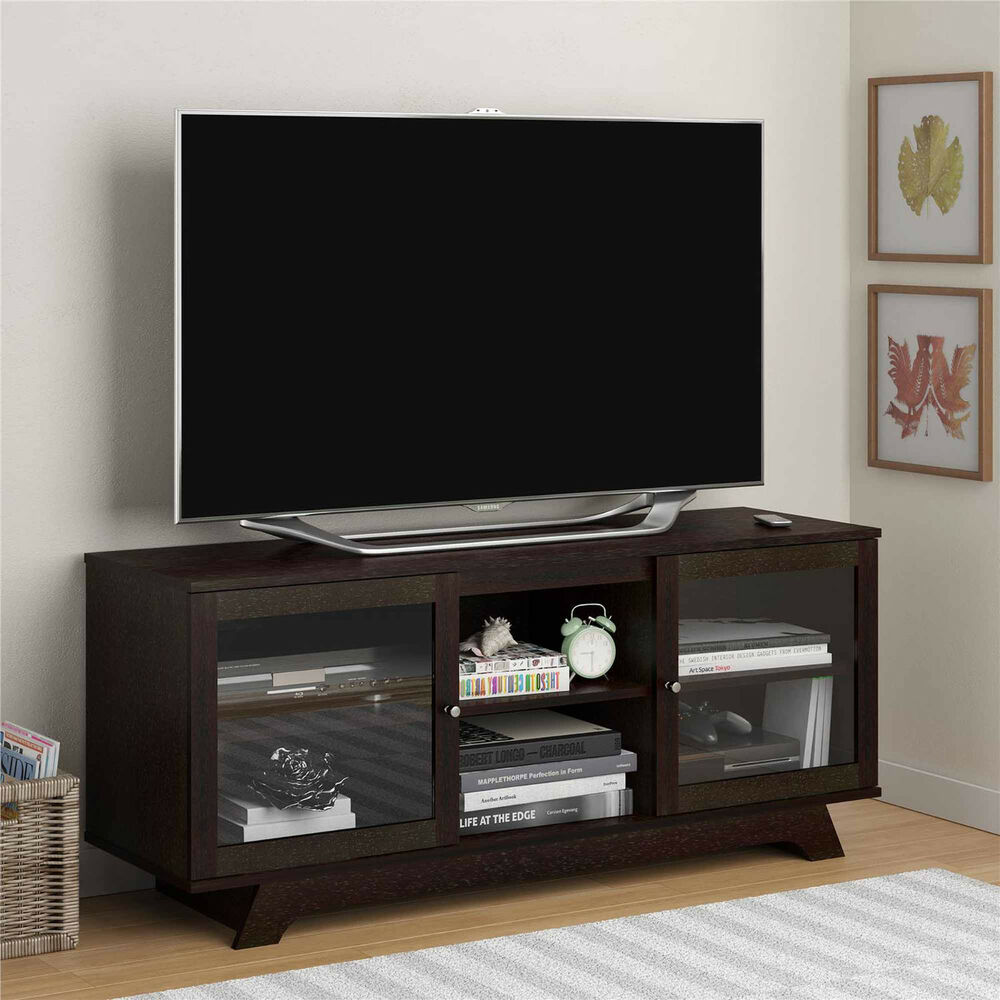 Tv Stand Entertainment Center Media Furniture Console Wood Storage Cabinet Home Ebay