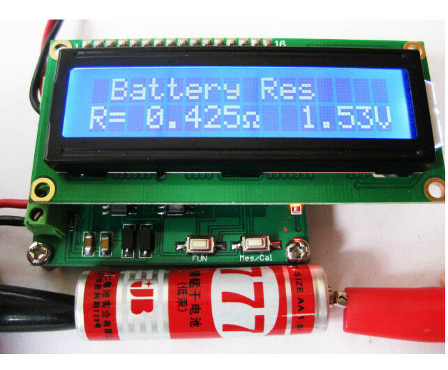 Esr Meter For Batteries : Internal battery resistance impedance tester voltmeter in