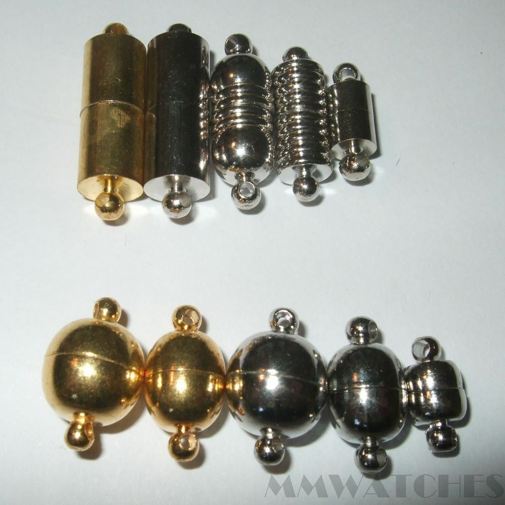 Mix of10 gold silver colour magnetic clasps connector for Mixture of gold and silver