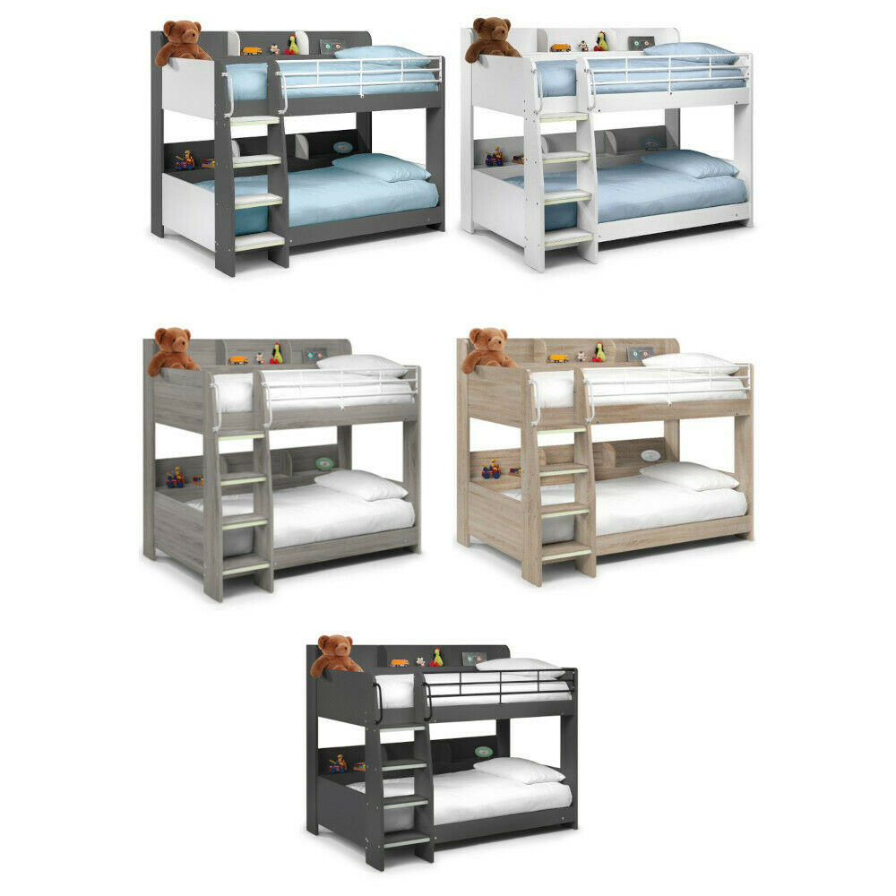 happy beds domino storage wooden bunk bed kids modern sleep station mattress ebay. Black Bedroom Furniture Sets. Home Design Ideas