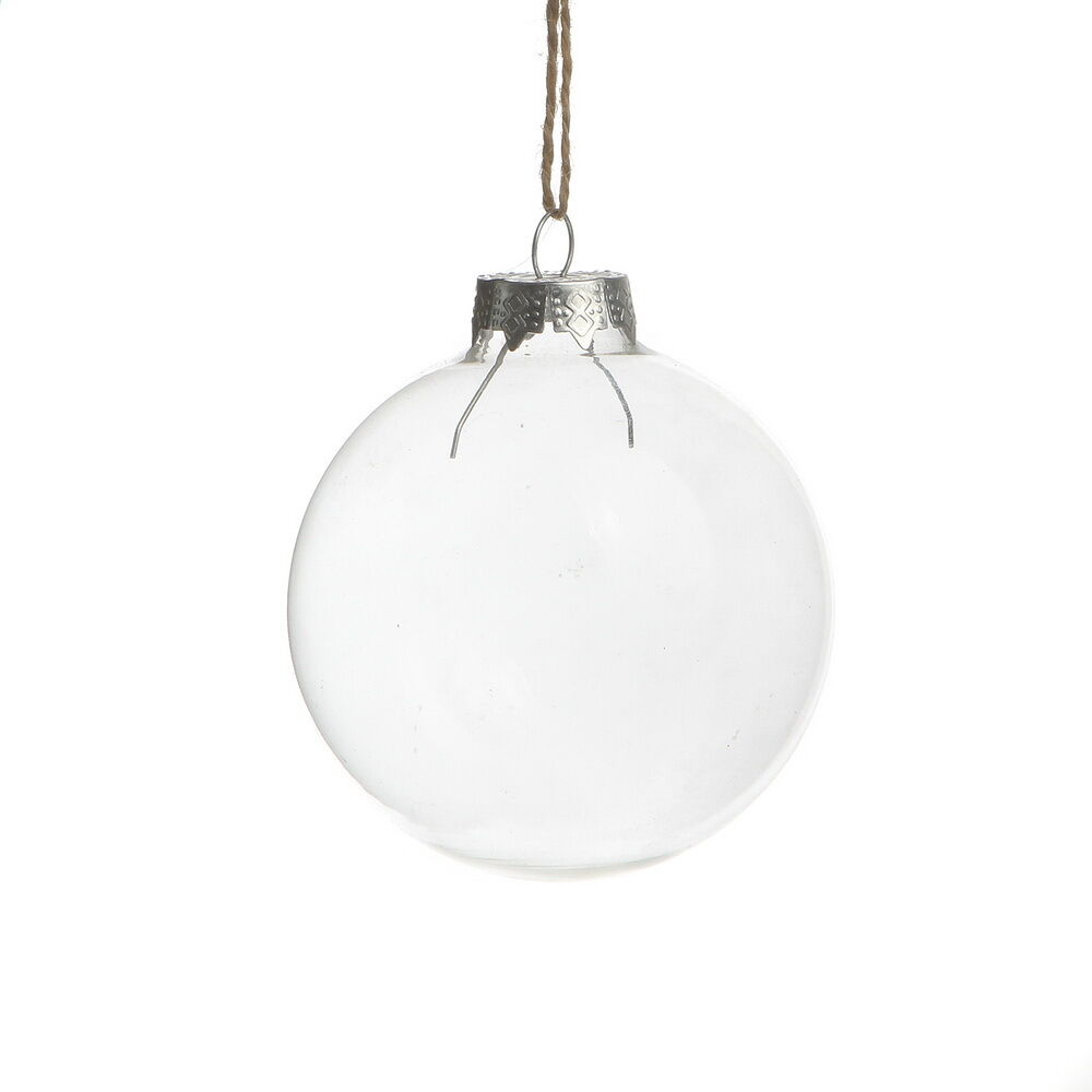 Clear glass ball wedding balls christmas ornaments