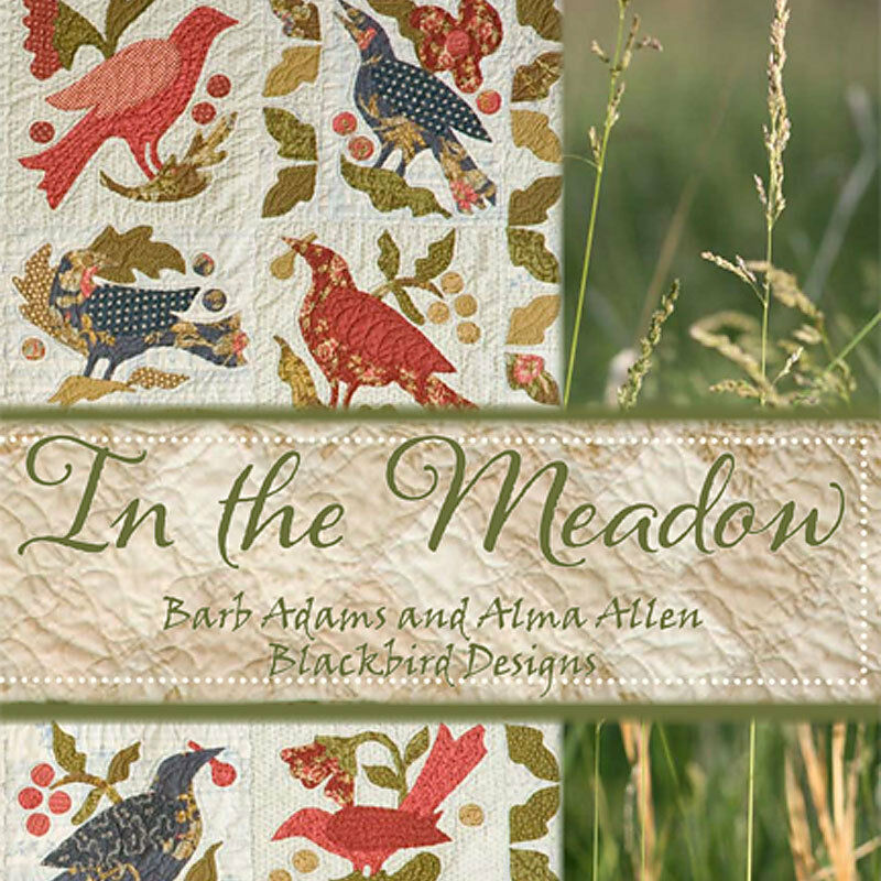 In the meadow 7 quilts hooked rug blackbird designs new for Tending the garden blackbird designs