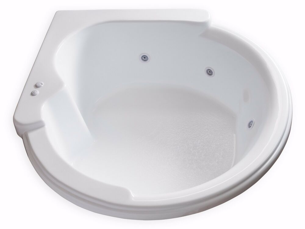 Carver Tubs CW6464 Circle Corner Whirlpool Bathtub With 6 White Jets EBay