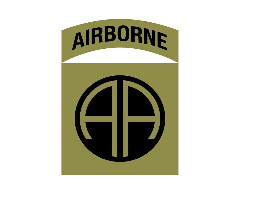 Vinyl Window Decals : Nd airborne division all american vinyl window decal