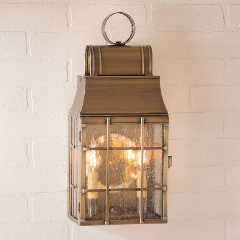 WASHINGTON OUTDOOR WALL LANTERN LIGHT/ 2 COLOR CHOICES