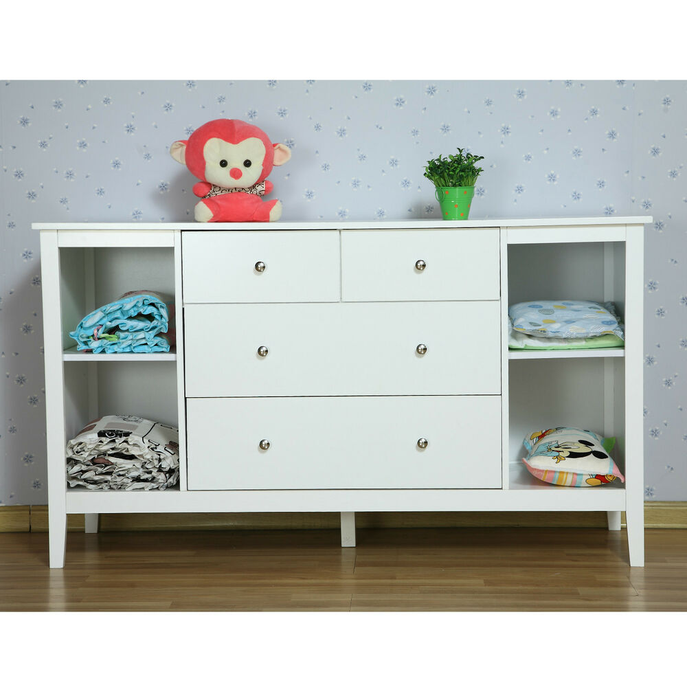 Baby Change Table Chest Of Drawers Bnib White New Zealand Pine Baby Change  Table 4 Chest