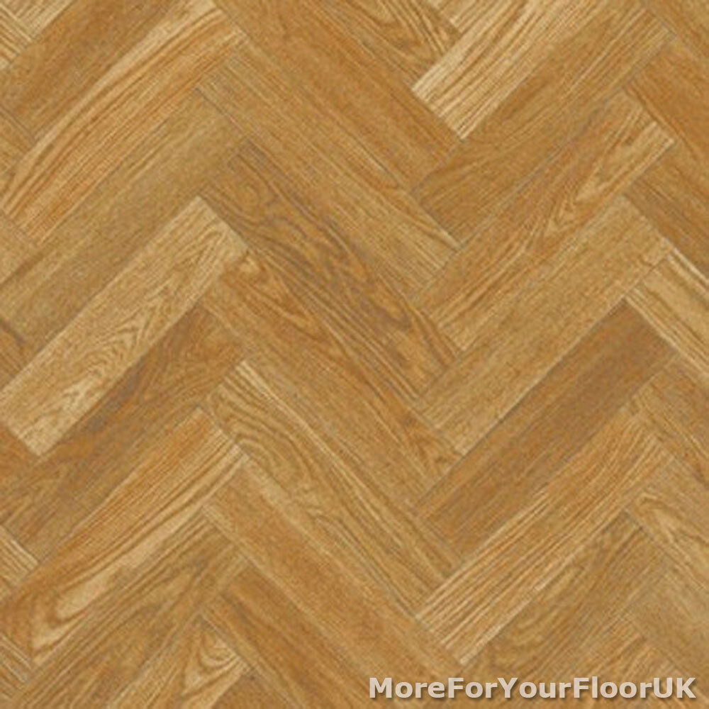 parquet style wood vinyl flooring slip resistant lino 3m 4m cushion floor ebay. Black Bedroom Furniture Sets. Home Design Ideas