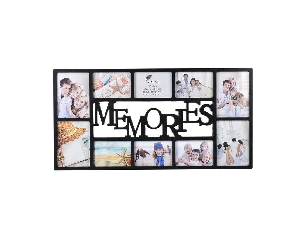 10 Multi Picture Aperture Photo Frame Wall Family Memories