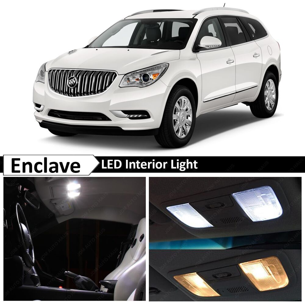 white interior led lights package kit for 2008 up buick enclave ebay. Black Bedroom Furniture Sets. Home Design Ideas