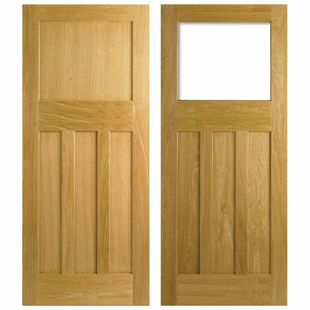 Lpd nostalgia 1930s style 1 over 3 panel white oak for Recycled interior doors