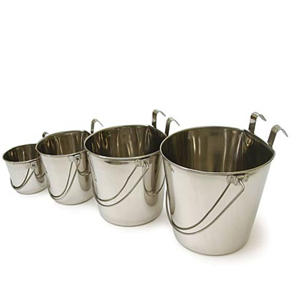 Stainless Steel Water Food Flat Sided Bucket Pail For