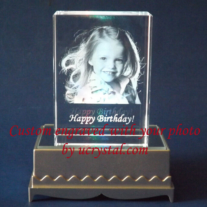 Personalized 2D Or 3D Laser Etched Engraved Custom Photo
