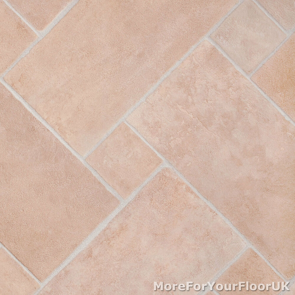 3 8mm Thick Vinyl Flooring Soft Beige Stone Brick Tile