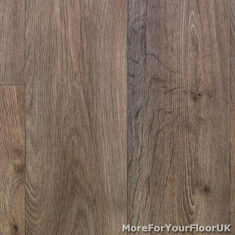 Thick vinyl flooring warm brown realistic wood plank for Wood effect vinyl flooring kitchen