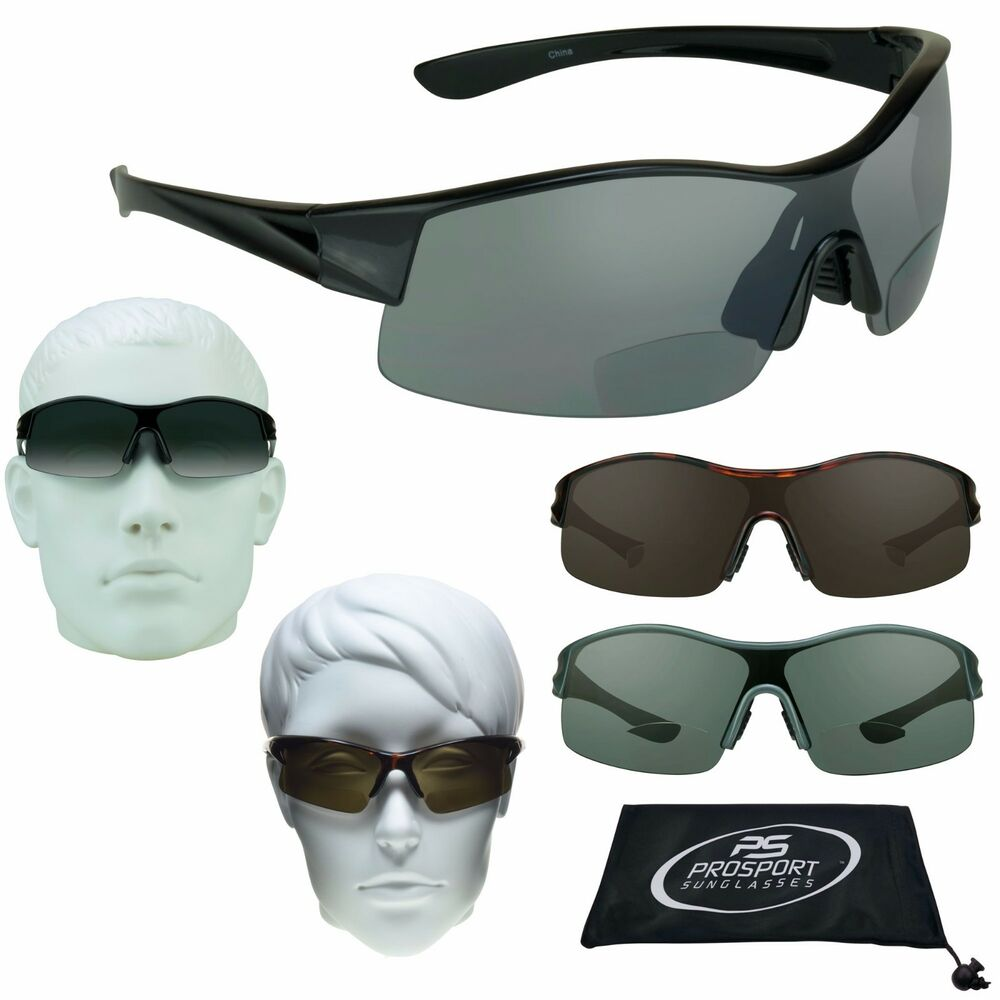 a889b4d4c2e Details about wrap bifocal sunglasses sport tinted sun readers cheaters  wide fit large jpg 1000x1000 What