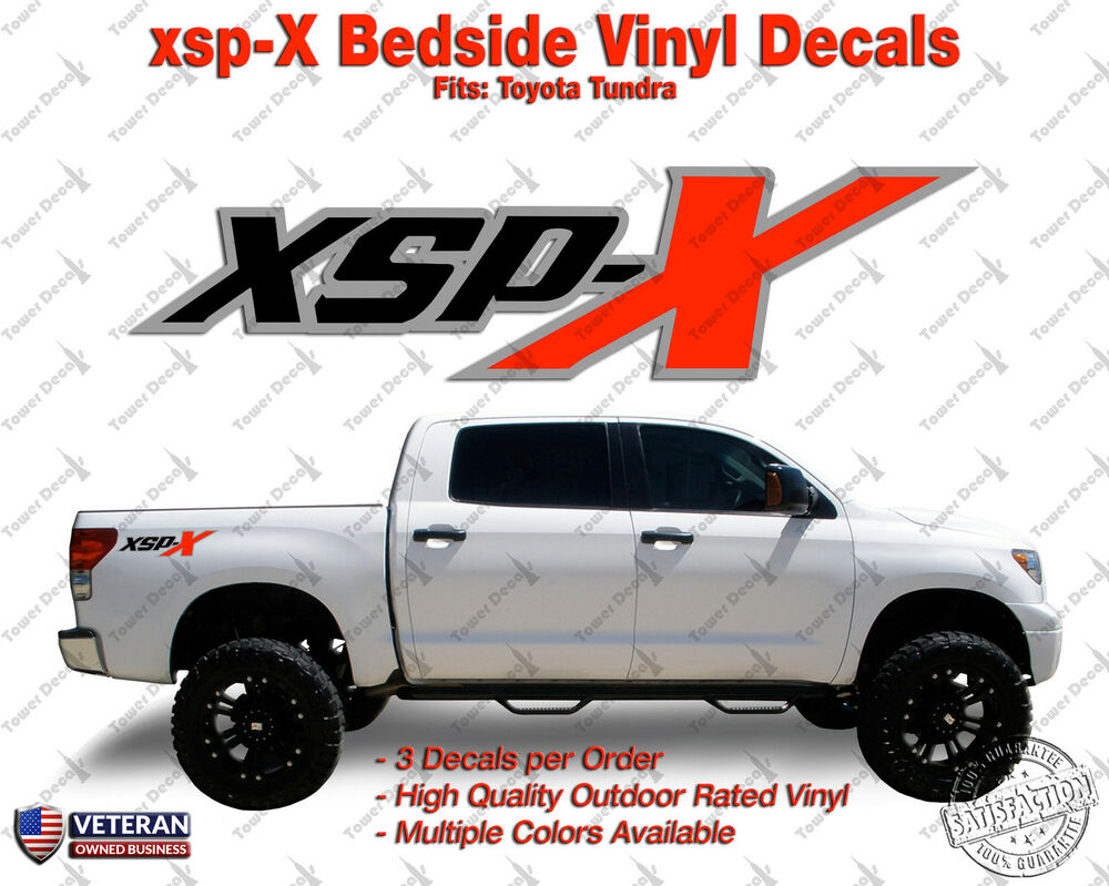Toyota Tacoma Xsp >> XSPX Package Vinyl Decal Truck Bedside Fits: Toyota Tundra (Set of 3) | eBay