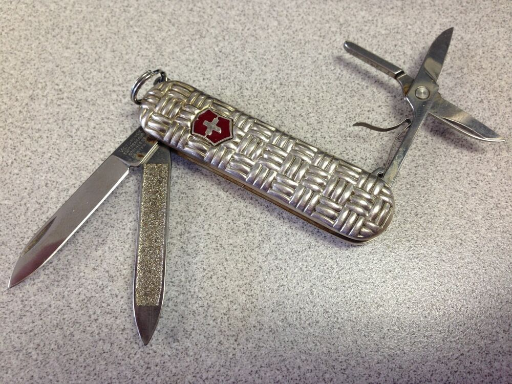 Victorinox Silver Swiss Army Knife With File And Scissors