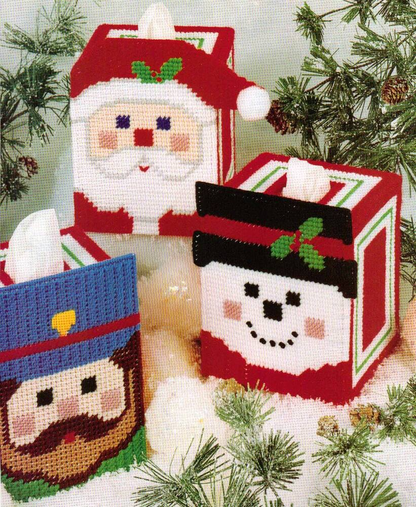 Cheery Faces Tissue Box Covers Amp Totes Plastic Canvas