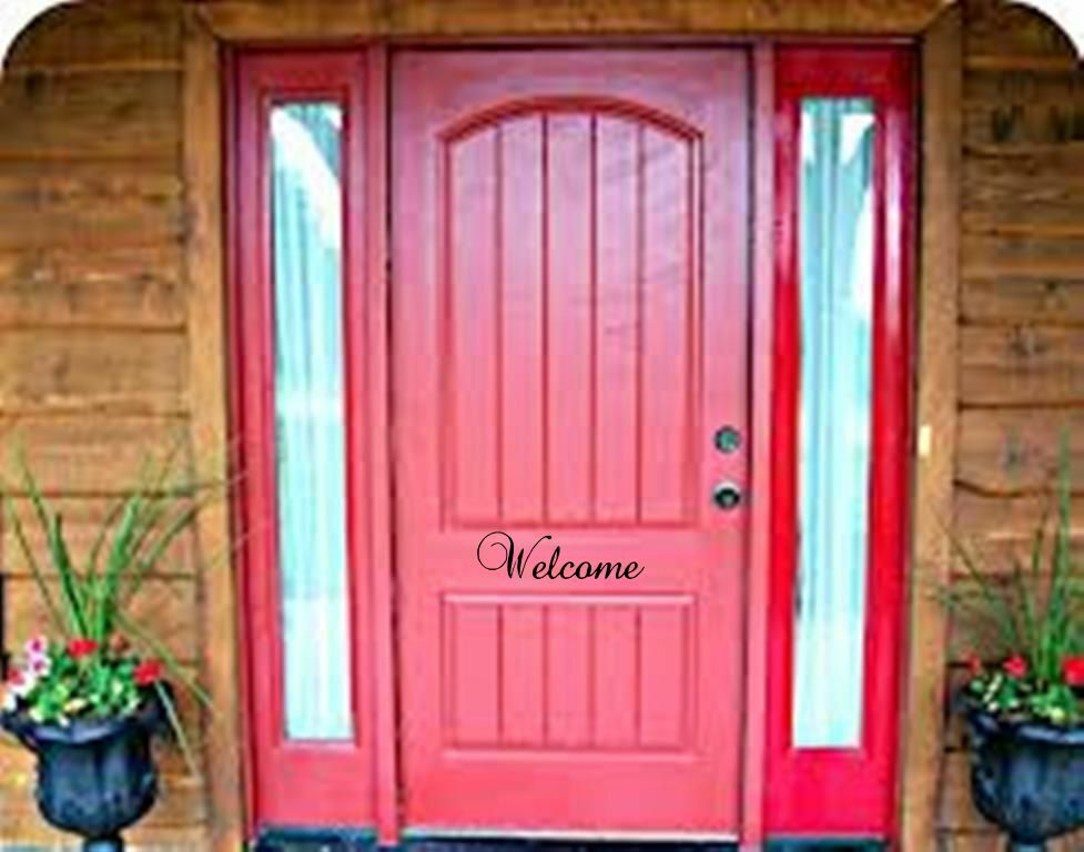 Welcome Front Door Vinyl Decal Black Or White Traditional Decor Sticker EBay