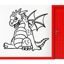 Wall Stickers Vinyl Decal Funny Baby Dragon Cool Decor For Kids Children (z2306)