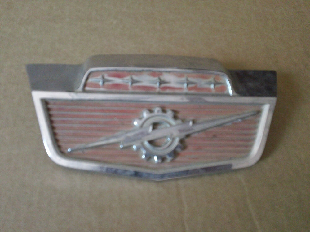 Classic Ford Emblems Decals : Vintage ford truck metal emblem ornament nameplate badge