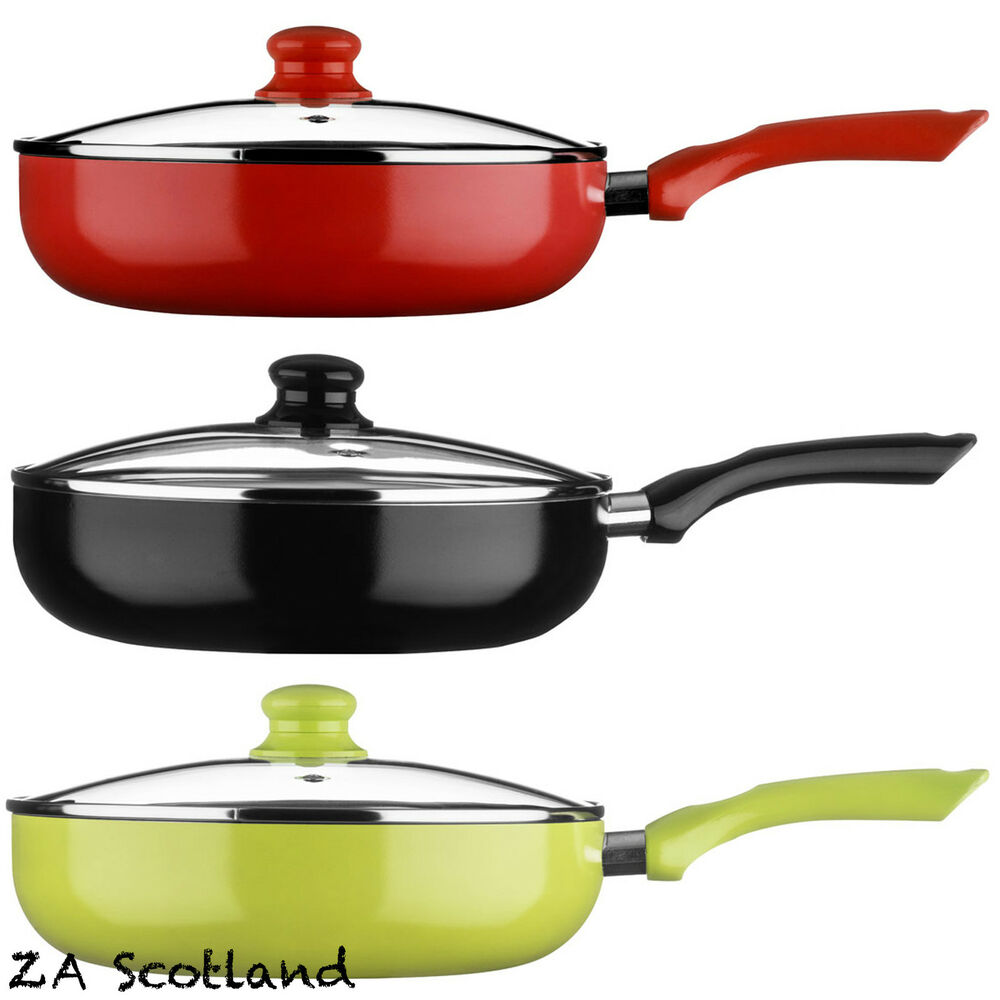 ecocook non stick pan frypan frying pan with white ceramic. Black Bedroom Furniture Sets. Home Design Ideas