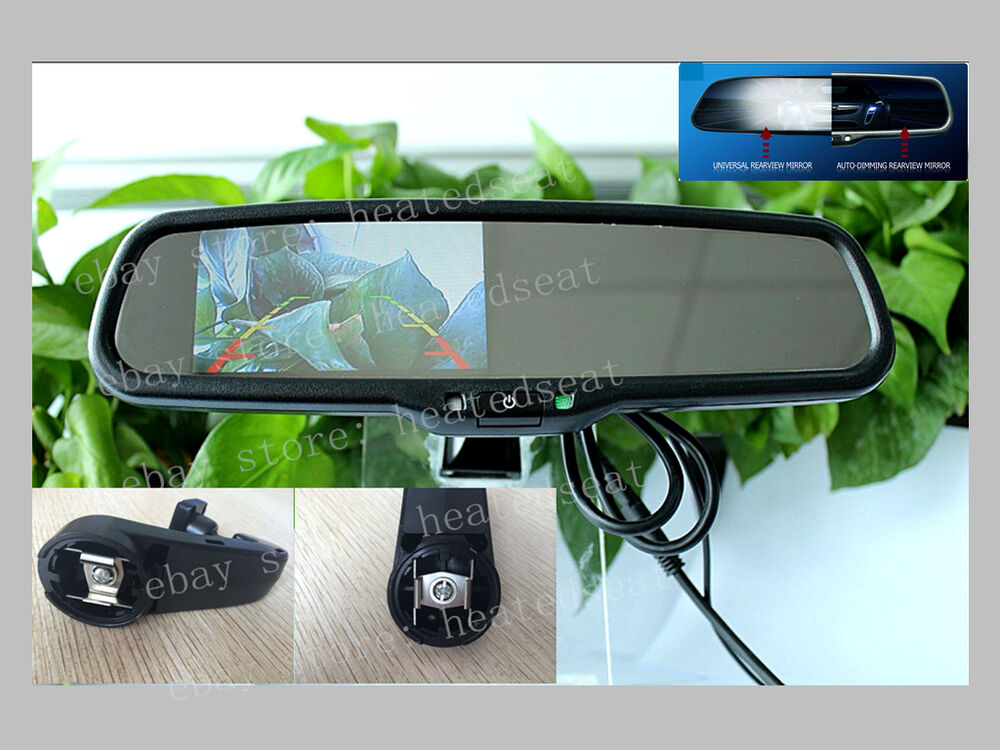 Auto dimming rear view mirror 4 3 quot LCD display fits