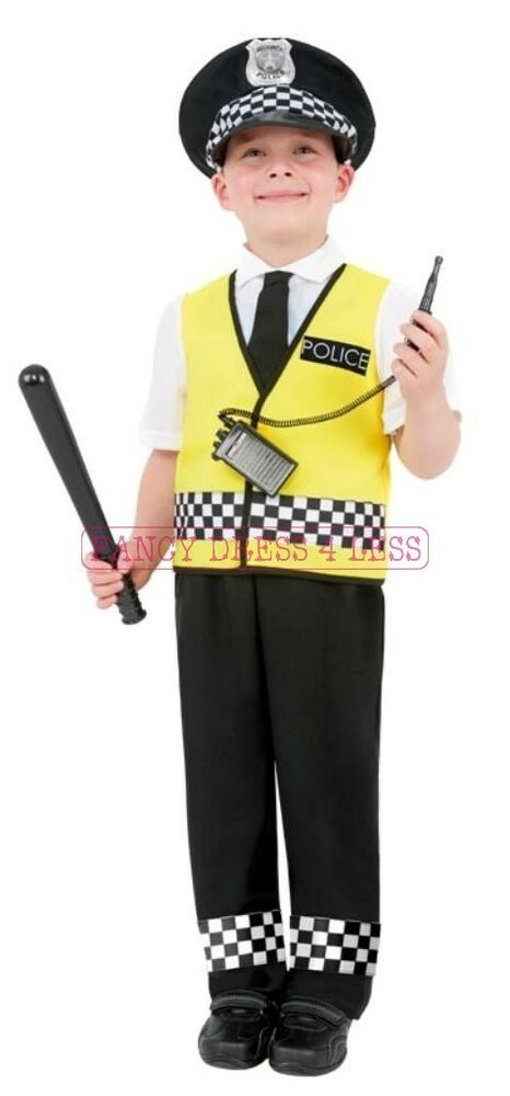 Boys childs policeman police officer fancy dress up costume 4 12 years ebay - Police officer child costume ...