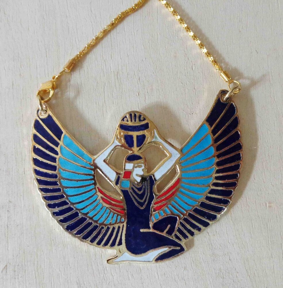 Handmade egyptian isis wings jewelry s necklace pendant for Egyptian jewelry