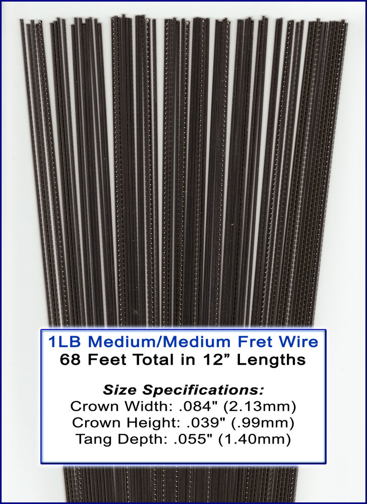 great deal on bulk guitar frets fret wire 1 lb medium medium gauge 11 02 01 ebay. Black Bedroom Furniture Sets. Home Design Ideas