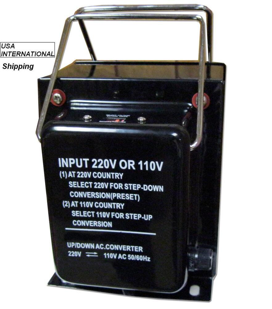 Us To Eu Int U0026 39 L Voltage Converter 240v  220v To 120v  110v Perfect For Us Made Tv