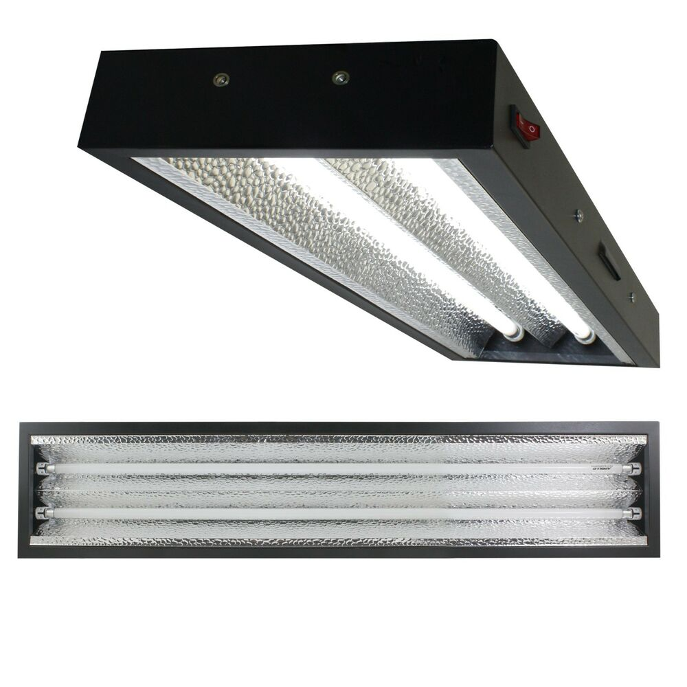 Industrial Grow Light: Apollo Horticulture 4 Ft T5 Grow Light Commercial Fixture