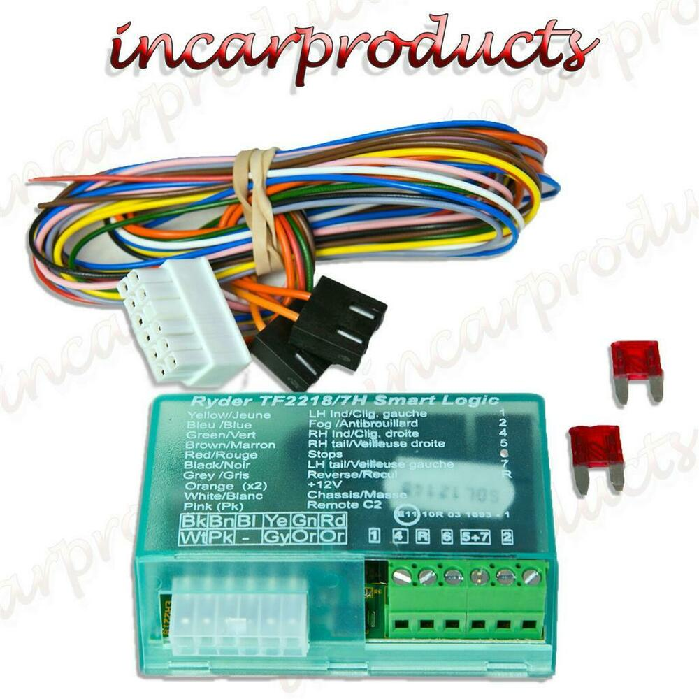 universal towbar 7 way towing electric bypass relay for