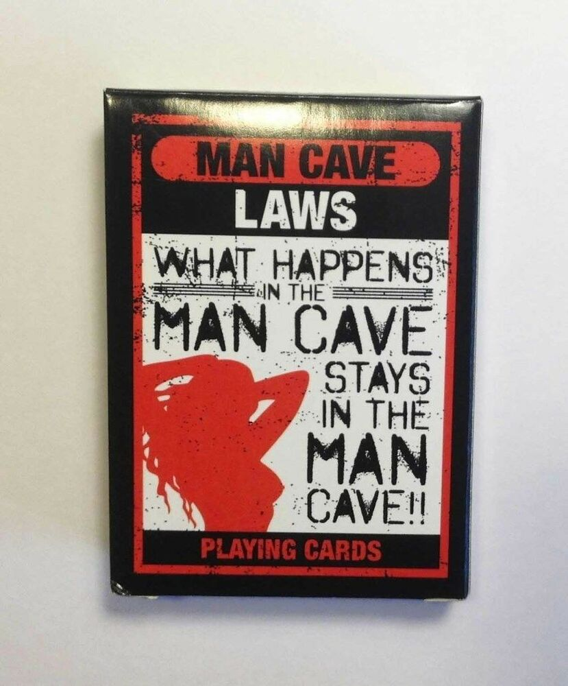 Man Cave Laws Playing Card Deck 52 Cards New Ebay